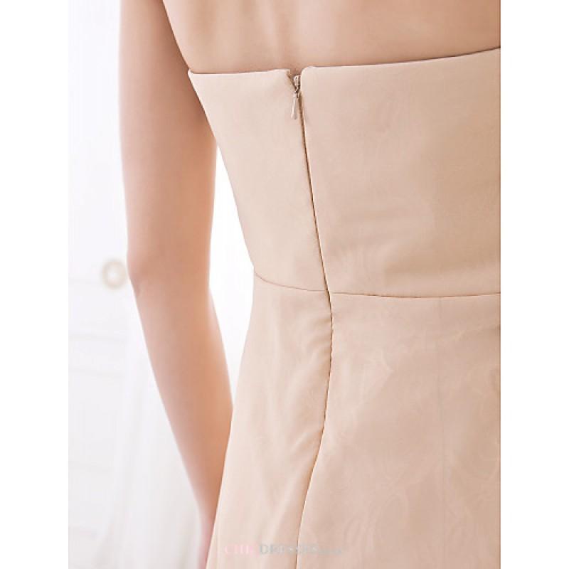 e1f0ef2ade82 ... Asymmetrical Chiffon Bridesmaid Dress - Champagne Plus Sizes / Petite A-line  Sweetheart Bridesmaid Dresses