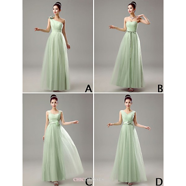 Mix & Match Dresses Floor-length Tulle 4 Styles Bridesmaid Dresses (3789964) Bridesmaid Dresses