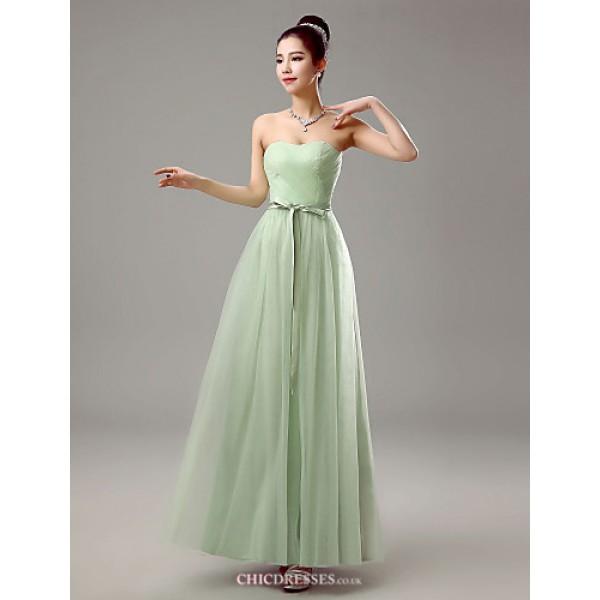 Dress - Clover Sheath/Column Sweetheart Floor-length Chiffon Bridesmaid Dresses
