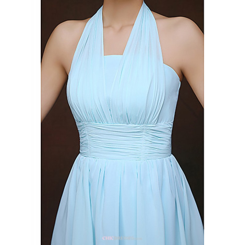 Short Mini Bridesmaid Dress Sky Blue Sheath Column