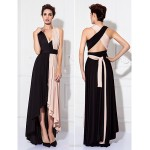 TS Couture Mix&Match Convertible Dress Tea-length Knit Sheath/Column Evening Dress Bridesmaid Dresses