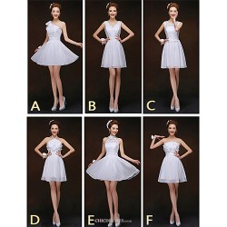 Mix & Match Dresses Short Mini Chiffon And Lace 6 Styles Bridesmaid Dresses (2840150)