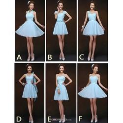 Mix & Match Dresses Short Mini Chiffon 6 Styles Bridesmaid Dresses (2840136)