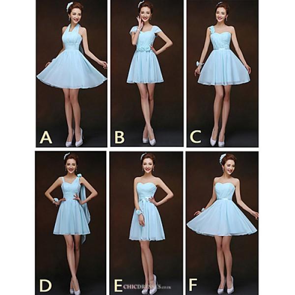 Mix & Match Dresses Short/Mini Chiffon 6 Styles Bridesmaid Dresses (2840136) Bridesmaid Dresses