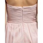 Short/Mini Chiffon Bridesmaid Dress - Pearl Pink Plus Sizes / Petite A-line Sweetheart Bridesmaid Dresses