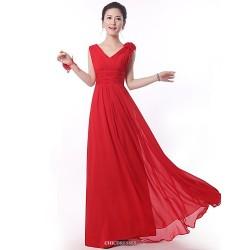 Floor Length Bridesmaid Dress Ruby A Line Straps