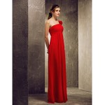A-line Strapless hem-length Satin Bridesmaid Dress Bridesmaid Dresses