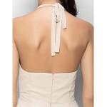 Chiffon Bridesmaid Dress - Blushing Pink Sheath/Column Halter Bridesmaid Dresses