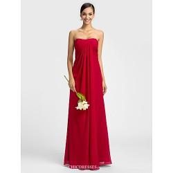 Dress Ruby Plus Sizes Petite Sheath Column Sweetheart Floor Length Chiffon