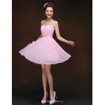 Short/Mini Bridesmaid Dress - Blushing Pink Sheath/Column Sweetheart Bridesmaid Dresses