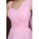 Short/Mini Bridesmaid Dress - Blushing Pink Sheath/Column Spaghetti Straps Bridesmaid Dresses