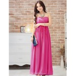 Ankle-length Chiffon Bridesmaid Dress - Fuchsia / Royal Blue / Champagne / Silver / Watermelon / Pool Ball Gown Sweetheart Bridesmaid Dresses