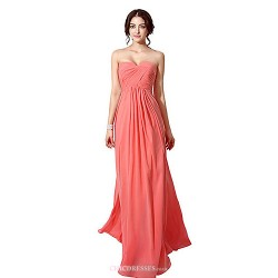 Formal Evening Dress - Orange / Ruby / Lilac / Pool / Champagne / Watermelon / As Picture Petite A-line Sweetheart Floor-length