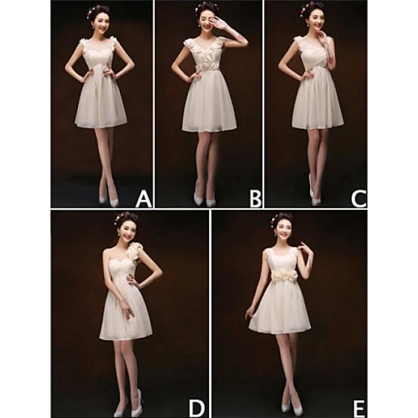 Mix & Match Dresses Short/Mini Chiffon 5 Styles Bridesmaid Dresses (3789923) Bridesmaid Dresses