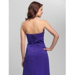 A-line Spaghetti Straps Floor-length Satin Bridesmaid Dress Bridesmaid Dresses