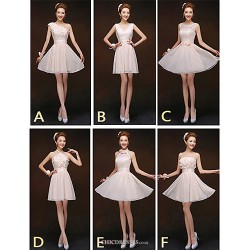 Mix & Match Dresses Short Mini Chiffon And Lace 6 Styles Bridesmaid Dresses (2840149)