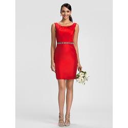Dress - Ruby Plus Sizes / Petite Sheath/Column Scoop Knee-length Taffeta