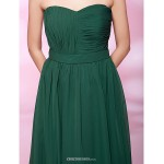 TS Couture Cocktail Party / Holiday / Wedding Party Dress - Dark Green Plus Sizes / Petite A-line / Princess Strapless / Sweetheart Knee-length Bridesmaid Dresses