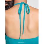 Asymmetrical / Knee-length Chiffon Bridesmaid Dress - Jade Plus Sizes / Petite A-line / Princess Halter Bridesmaid Dresses