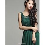 Ankle-length Silk Bridesmaid Dress - Burgundy / Dark Green / Champagne / Black Ball Gown Sweetheart Bridesmaid Dresses