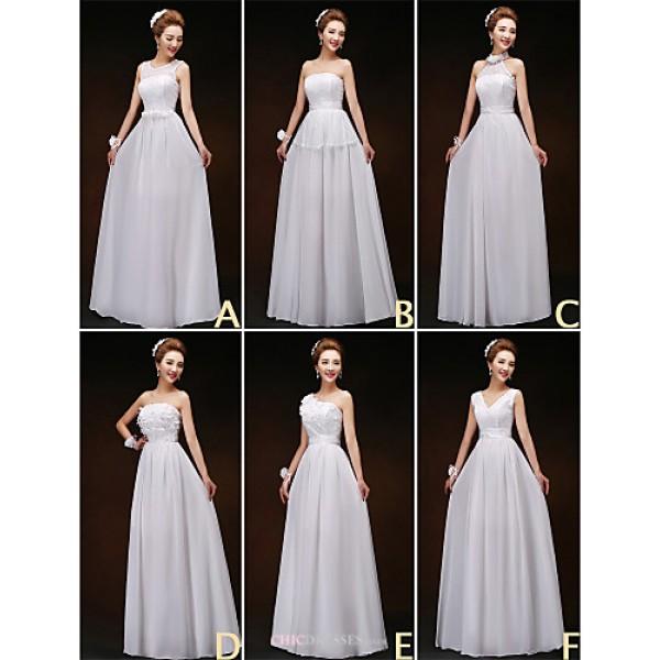 Mix & Match Dresses Floor-length Chiffon and Lace 6 Styles Bridesmaid Dresses (3227801) Bridesmaid Dresses