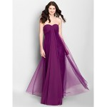 Ankle-length Tulle Bridesmaid Dress - Grape A-line Sweetheart Bridesmaid Dresses