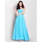Ankle-length Chiffon Bridesmaid Dress - Pool A-line Sweetheart Bridesmaid Dresses