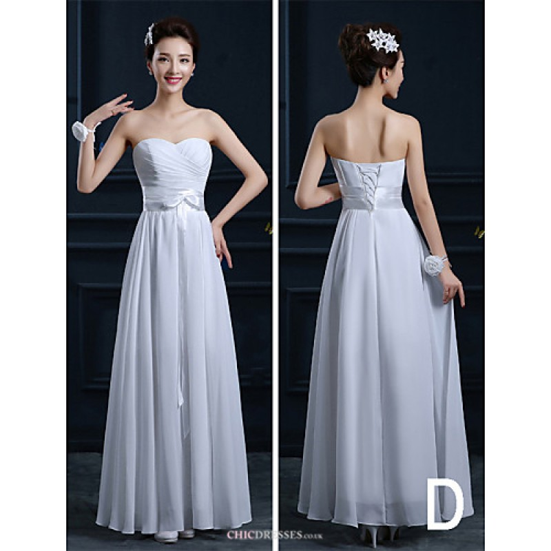 Ankle-length Chiffon Bridesmaid Dress