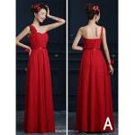 Ankle-length Chiffon Bridesmaid Dress - Ruby A-line One Shoulder Bridesmaid Dresses