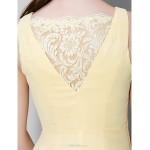 Ankle-length Chiffon Bridesmaid Dress - Daffodil Sheath/Column V-neck Bridesmaid Dresses