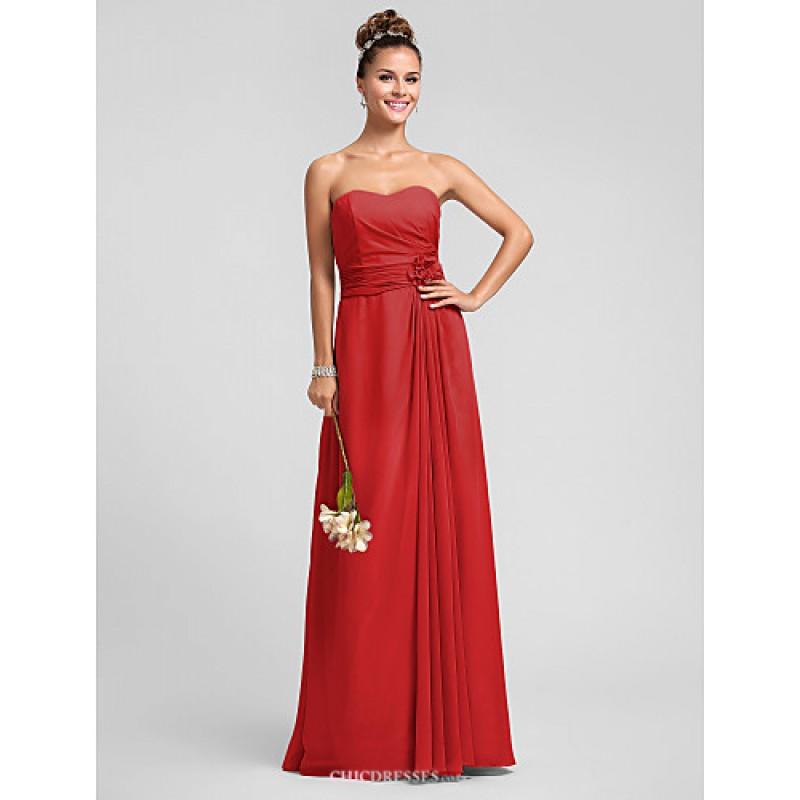 a7ac9c0292c ... Floor-length Chiffon Bridesmaid Dress - Silver   Royal Blue   Ruby    Champagne ...