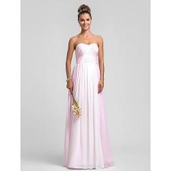 Military Ball Formal Evening Wedding Party Dress Multi Color Plus Sizes Petite Sheath Column Sweetheart Floor Length Chiffon