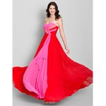 Ankle-length Chiffon Bridesmaid Dress - Multi-color A-line Strapless Bridesmaid Dresses