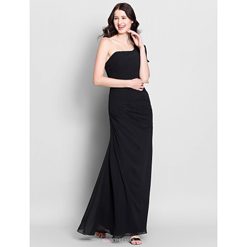 Ankle-length Chiffon Bridesmaid Dress