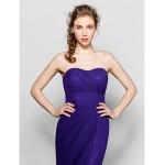 Floor-length Chiffon Bridesmaid Dress - Regency Plus Sizes / Petite Sheath/Column Sweetheart Bridesmaid Dresses