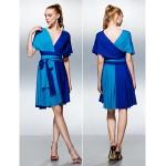 Mix&Match Convertible Dress Knee-length Knit A-line Cocktail Dress (2494965) Bridesmaid Dresses