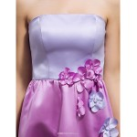 Floor-length Satin Bridesmaid Dress - Multi-color Apple / Hourglass / Inverted Triangle / Pear / Rectangle / Plus Sizes / Petite / Misses Bridesmaid Dresses