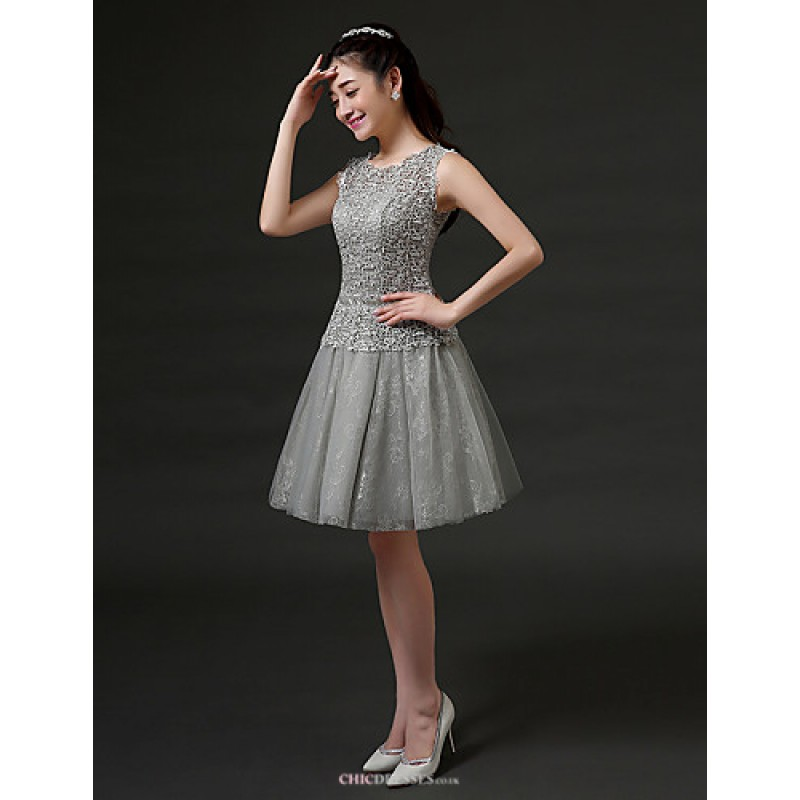 c1affdeb975 ... Short Mini Lace Bridesmaid Dress - Ruby   Pearl Pink   White   Silver  ...