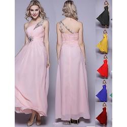Royal Blue Black Ruby Fuchsia Grape Pool Plus Sizes Maxi With Beads Sequins Chiffon Bridesmaid Dress Strapless