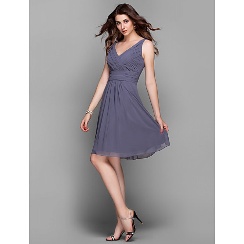 Cocktail Party / Holiday / Prom Dress - Silver Plus Sizes