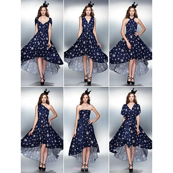 Mix&Match Convertible Dress Asymmetrical Knit Sheath/Column Cocktail Dress (2034736) Bridesmaid Dresses