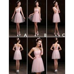 Mix & Match Dresses Short Mini Lace 3 Styles Bridesmaid Dresses (3227681)