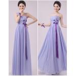 Floor-length Chiffon Bridesmaid Dress - Lavender Sheath/Column Sweetheart Bridesmaid Dresses