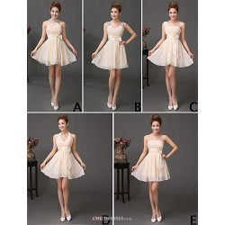 Mix & Match Dresses Short/Mini Chiffon 5 Styles Bridesmaid Dresses (3789824)