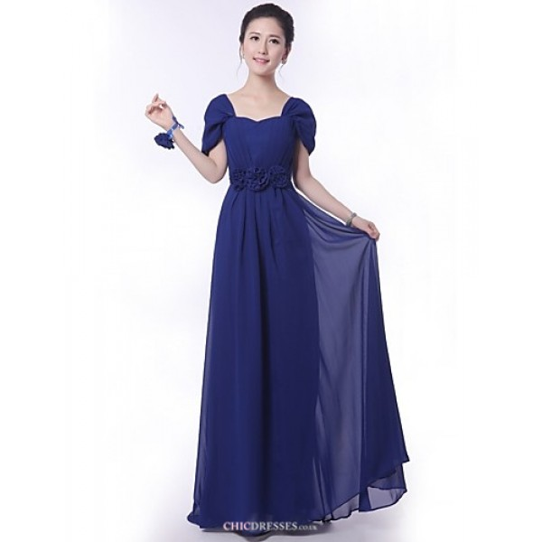 Floor-length Bridesmaid Dress - Royal Blue A-line Off-the-shoulder Bridesmaid Dresses