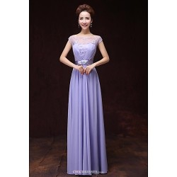 Formal Evening Dress As Picture A Line Bateau Floor Length Satin