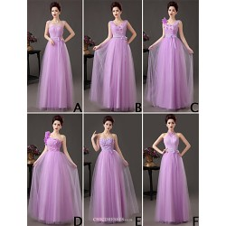 Mix & Match Dresses Floor Length Tulle 6 Styles Bridesmaid Dresses (3789797)