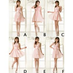 Mix & Match Dresses Short Mini Chiffon 6 Styles Bridesmaid Dresses (3789851)