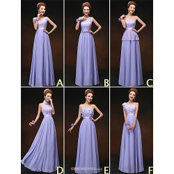 Mix & Match Dresses Floor-length Chiffon and Lace 6 Styles Bridesmaid Dresses (3227810)