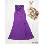 Ankle-length Silk Bridesmaid Dress - Grape / Black Ball Gown Sweetheart Bridesmaid Dresses